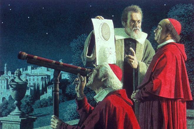 "Резултат с изображение за ""Галилео Галилей пристига в Рим"""